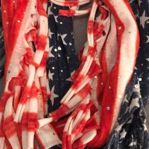 Justice Accessories - Justice American Flag Infinity Scarf